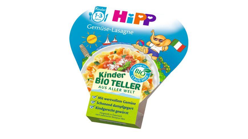 HiPP Kinder Bio Teller aus aller Welt Gemuese Lasagne