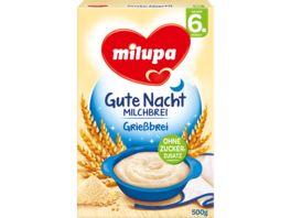 Milupa Gute Nacht Milchbrei Griessbrei 6M