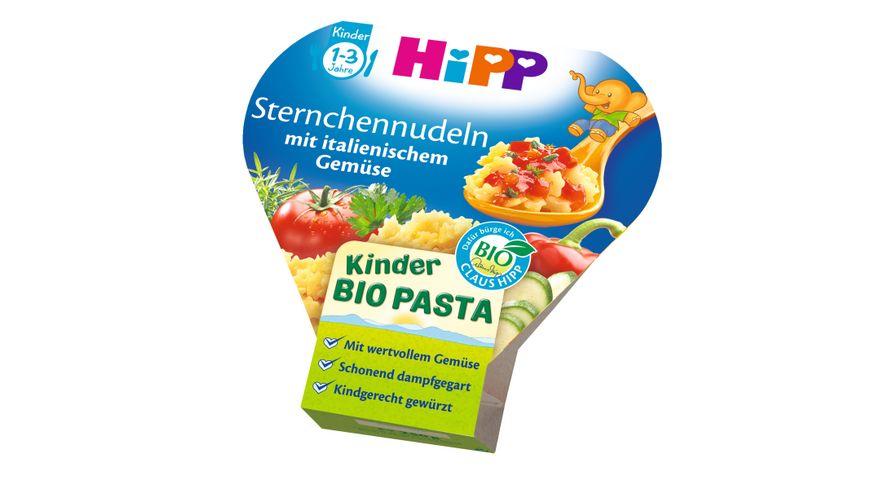 HiPP Kinder Bio Pasta Sternchennudeln mit italienischem Gemuese