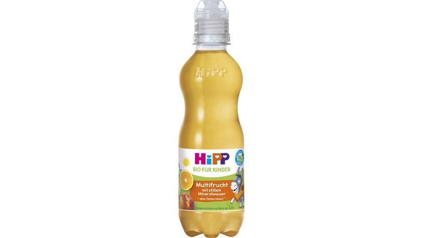 HiPP Kinder Getraenk mit stillem Mineralwasser Multifrucht mit stillem Mineralwasser