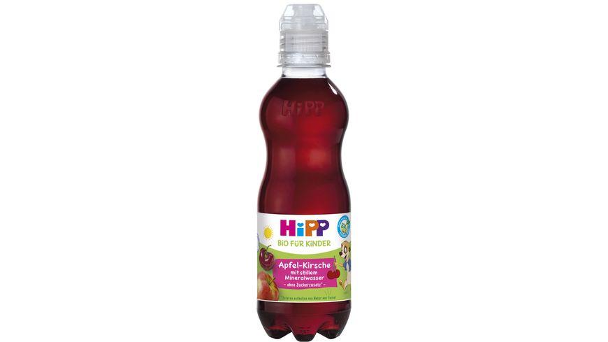 HiPP Kinder Getraenk mit stillem Mineralwasser Apfel Kirsche mit stillem Mineralwasser