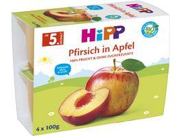 HiPP Fruechte im Becher Pfirsich in Apfel