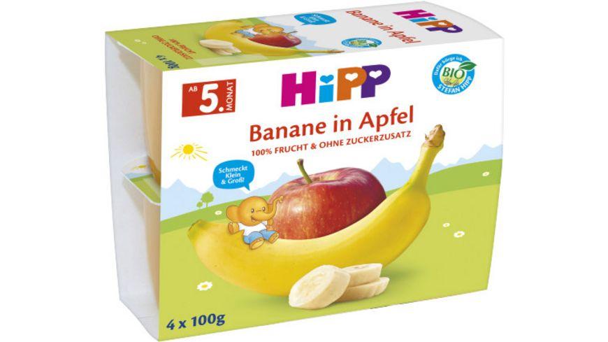 HiPP Fruechte im Becher Banane in Apfel