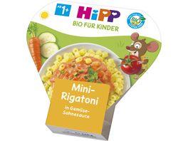 HiPP Schalenmenues Mini Rigatoni in Gemuese Sahnesauce 250 g 1 3 Jahre