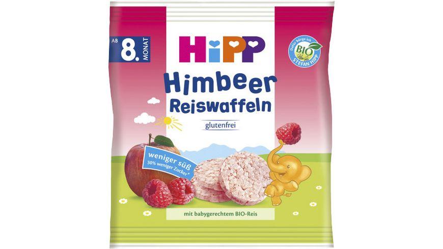 HiPP Bio Knabberprodukte Himbeer Reiswaffeln, 30g