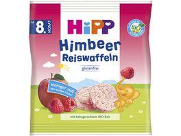 HiPP Knabberprodukte Himbeer Reiswaffeln