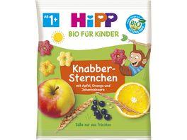 HiPP Bio fuer Kinder Knabber Sternchen mit Apfel Orange und Johannisbeere 30g ab 1