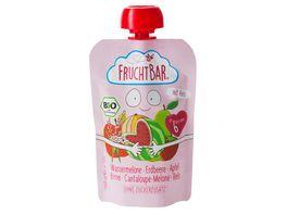 FRUCHTBAR Quetschie Wassermelone Erdbeere Apfel Birne Cantaloupe Melone Reis