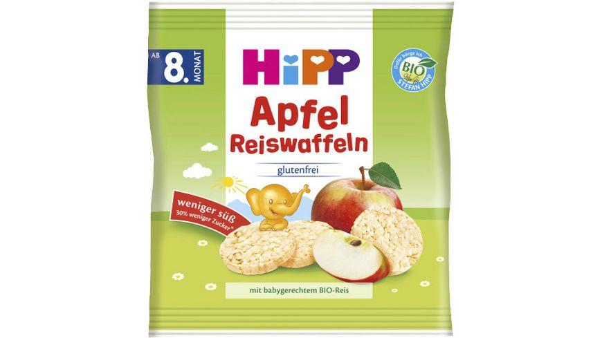 HiPP Knabberprodukte Apfel Reiswaffeln