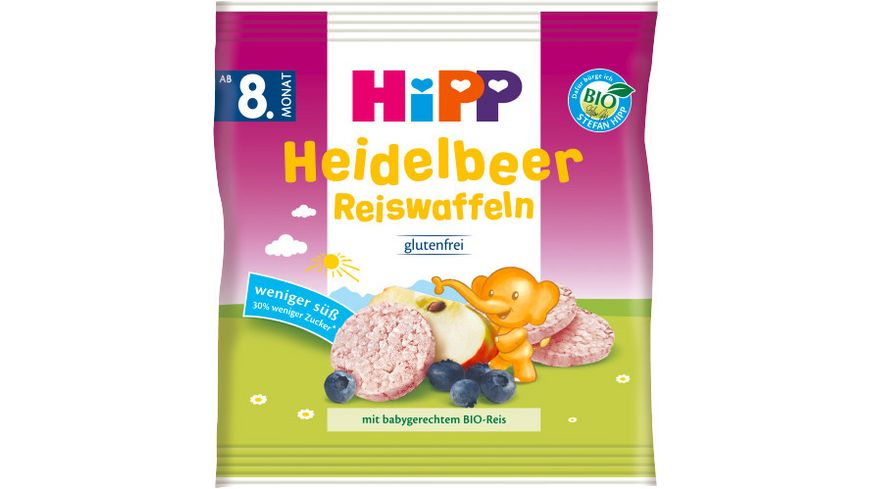 HiPP Knabberprodukte Heidelbeer Reiswaffeln