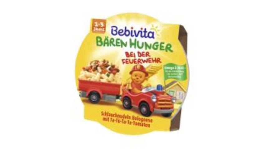 Bebivita Baeren Hunger 1 3 Jahre in der Schale Baeren Hunger bei der Feuerwehr Schlauchnudeln Bolognese mit Ta Tue Ta Ta Tomaten