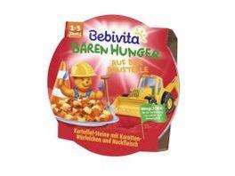Bebivita Baeren Hunger 1 3 Jahre in der Schale Baeren Hunger auf der Baustelle Kartoffel Steine mit Karotten Wuerfelchen und Hackfleisch