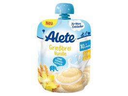 Alete Quetschie Griessbrei Vanille