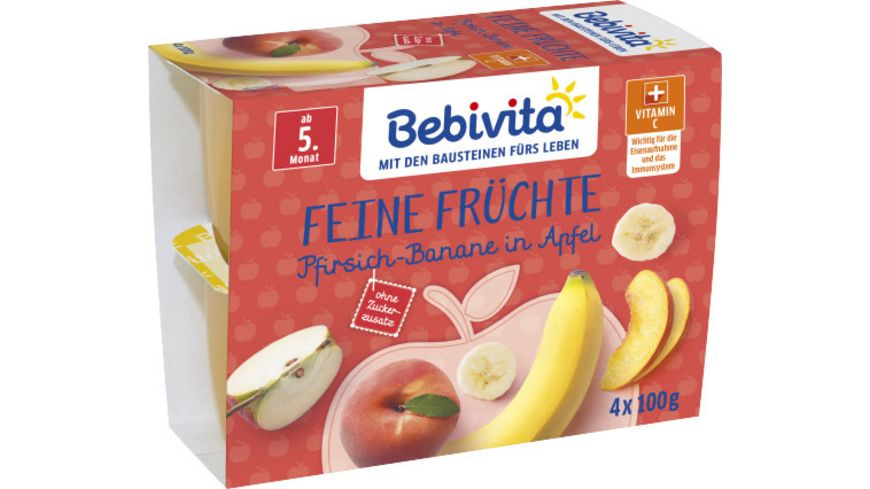Bebivita Feine Fruechte Pfirsich Banane in Apfel