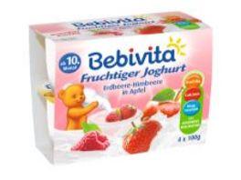 Bebivita Fruchtiger Joghurt Erdbeere Himbeere in Apfel