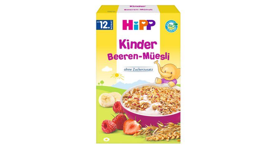 HiPP Bio-Müesli ohne Zuckerzusatz: Beeren-Müesli 200g, ab 12. Monat, ohne Zuckerzusatz