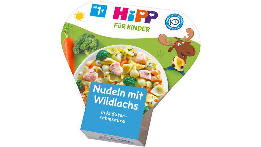 HiPP Kinder Bio Teller aus aller Welt Nudeln mit Wildlachs in Kraeuterrahmsauce