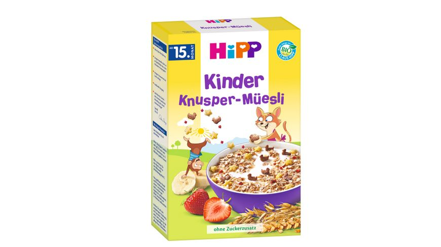 HiPP Bio Mueesli Kinder Knusper Muesli
