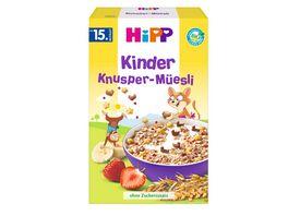 HiPP Kinder Bio Mueesli ohne Zuckerzusatz 200g Kinder Knusper Mueesli ab 15 Monat
