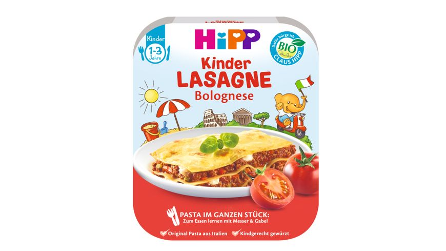 HiPP Pasta im ganzen Stueck Lasagne Bolognese