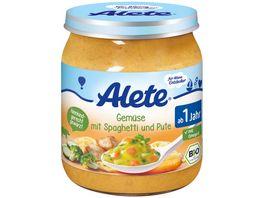 Alete Gemuese mit Spaghetti und Pute