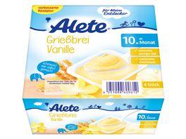 Alete Griessbrei Vanille