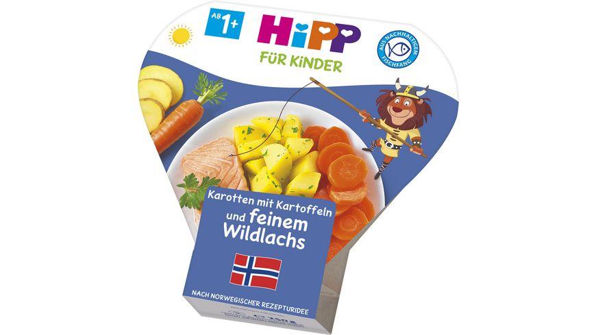 HiPP Kinder Bio Teller Karotten mit Kartoffeln und feinem Wildlachs