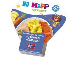 HiPP Beikost Karotten mit Kartoffeln und feinem Wildlachs