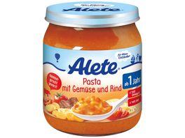 Alete Pasta mit Gemuese und Rind