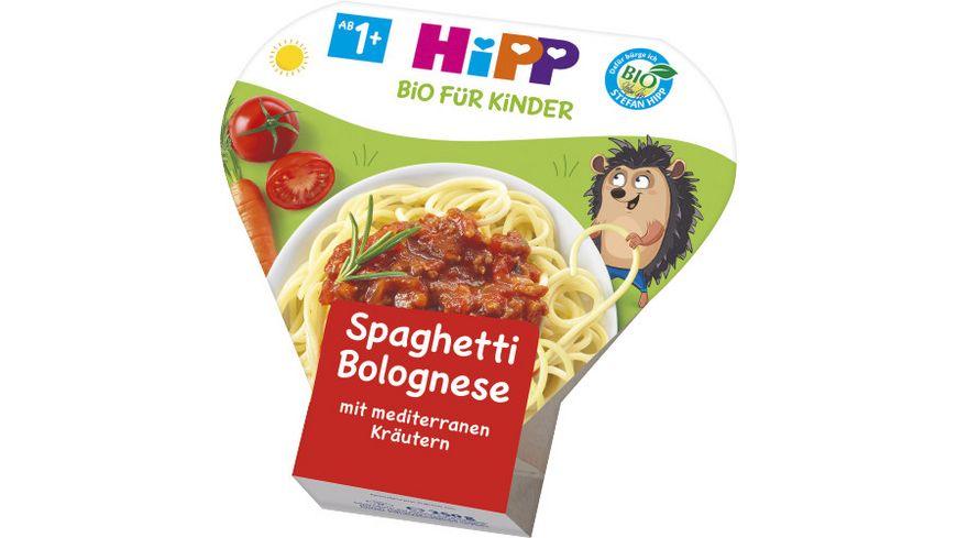 HiPP Bio für Kinder Pasta - Spaghetti Bolognese mit mediterranem Gemüse, 250g