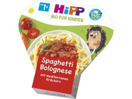 HiPP Bio fuer Kinder Pasta Spaghetti Bolognese mit mediterranem Gemuese 250g