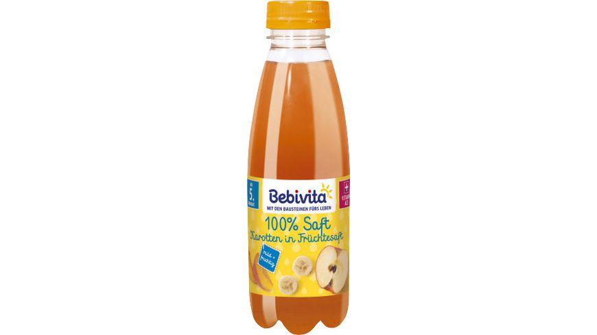 Bebivita Säfte: 100% Saft Karotten in Früchtesaft, 0,5l PET-Flasche