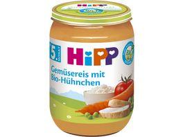 HiPP Babyglaeschen Brei Gemuesereis mit Bio Huehnchen