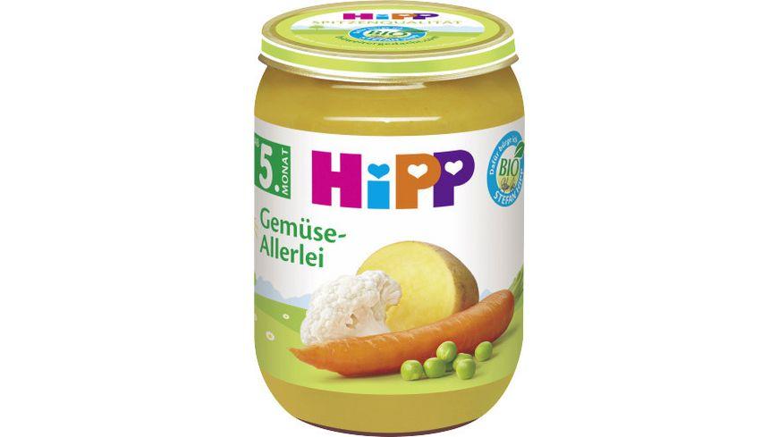 Hipp Gemüse: Gemüse-Allerlei 190 g, ab 5. Monat