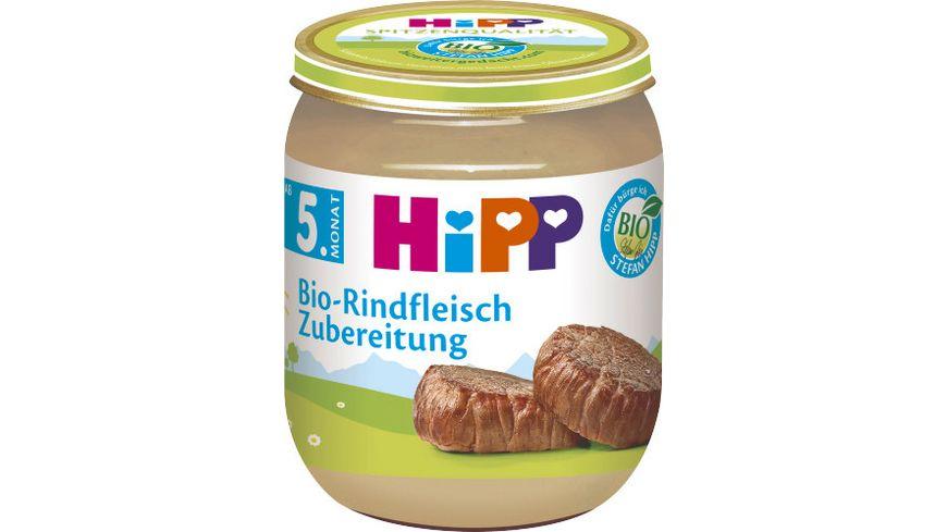 HiPP Bio (Fleisch-)Zubereitungen, Bio-Rindfleisch-Zubereitung, 125g