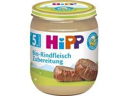 HiPP Babyglaeschen Brei Bio Rindfleisch Zubereitung