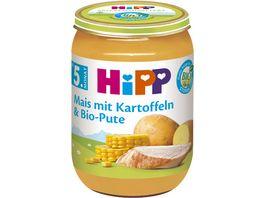 HiPP Menues nach dem 4 Monat Mais mit Kartoffeln und Bio Pute
