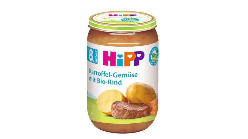 HiPP Menues ab 8 Monat Kartoffel Gemuese mit Bio Rind