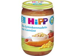 HiPP Menues ab 8 Monat Bio Schinkennudeln mit Gemuese