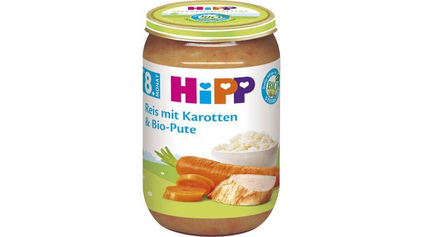 HiPP Menues ab 8 Monat Reis mit Karotten und Bio Pute