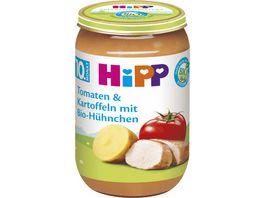HiPP Menues ab 10 Monat Tomaten und Kartoffeln mit Bio Huehnchen