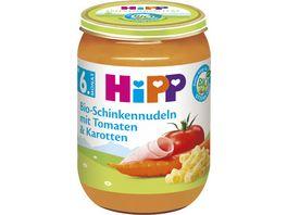HiPP Menue Bio Schinkennudeln mit Tomaten und Karotten 190 g ab dem 6 Monat
