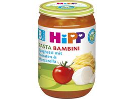 HiPP Menues ab 8 Monat Pasta Bambini Spaghetti mit Tomaten und Mozzarella