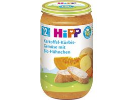 HiPP Babyglaeschen Brei Kartoffel Kuerbis Gemuese mit Bio Huehnchen