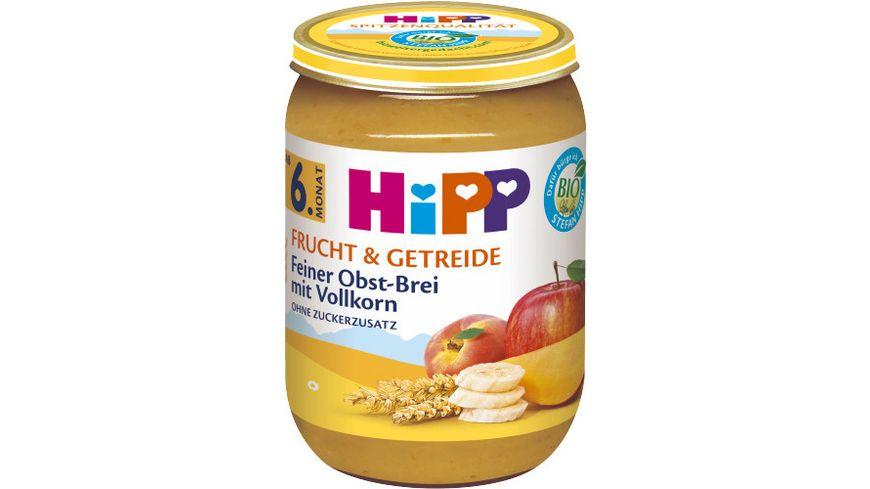 HiPP Frucht Getreide Feiner Obst Brei mit Vollkorn