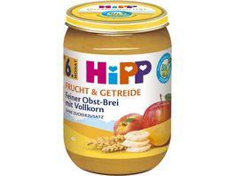 HiPP Bio Frucht und Getreide Feiner Obst Brei mit Vollkorn ohne Zuckerzusatz 190g