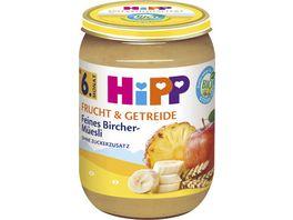 HiPP Frucht Getreide 190g Feines Bircher Mueesli ohne Zuckerzusatz ab 6 Monat