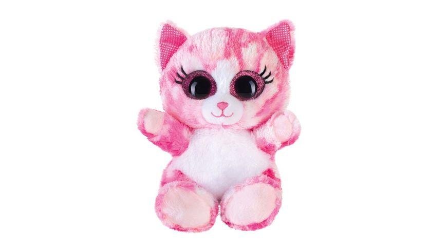 Bauer Blickfaenger und Glitter Lashy Katze pink 15cm