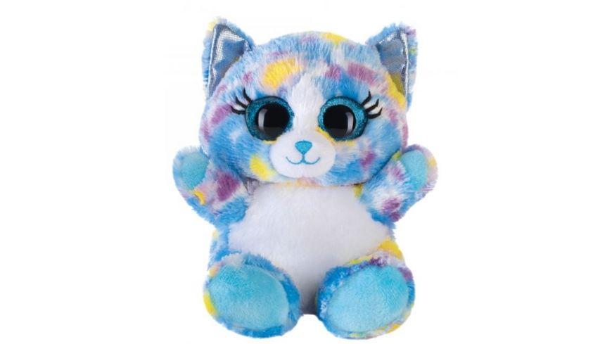 Bauer Blickfaenger und Glitter Lashy Katze blau bunt 15cm