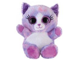 Bauer Blickfaenger und Glitter Lashy Katze lila 15cm